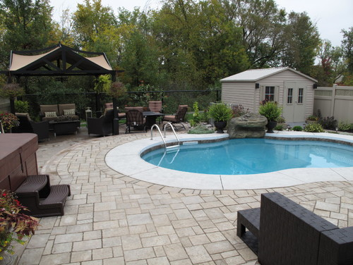ottawa landscape design services - pool area