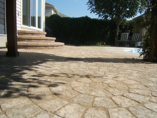 Stamped Concrete vs. Interlocking Stone Pavers